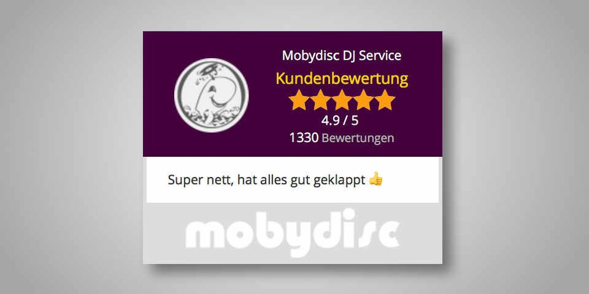 Ratings for Munich dj hire company mobydisc